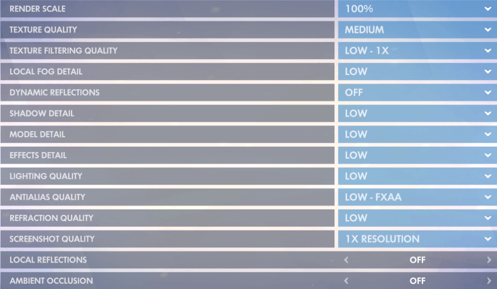 best overwatch settings