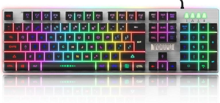 YOUFU K2 Backlit Gaming Keyboard